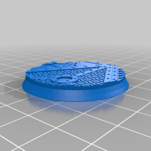 Round_40mm_base_INDR_01.png Download free STL file Sci-fi industrial bases all sizes all shapes • 3D printing template, Alario