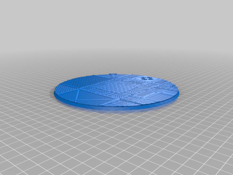 Round_160mm_base_INDR_01.png Download free STL file Sci-fi industrial bases all sizes all shapes • 3D printing template, Alario