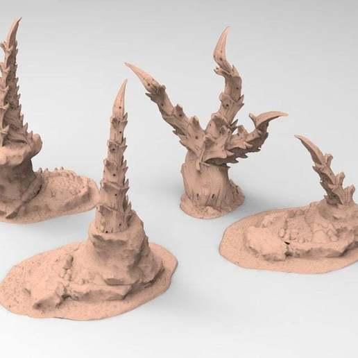 4.jpg Download free STL file tyty tyran tyranid 40k starship trooper notable small terrain remix Part 4 • Template to 3D print, Alario