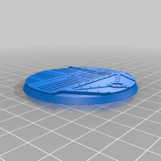 Round_64mm_base_INDR_01.png Download free STL file Sci-fi industrial bases all sizes all shapes • 3D printing template, Alario