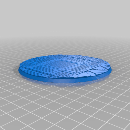 Round_100mm_base_INDR_01.png Download free STL file Sci-fi industrial bases all sizes all shapes • 3D printing template, Alario