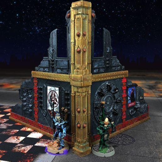 Ruine_66_4000px.jpg Download free STL file Damocles kickstarter modular industrial buildings sample • 3D print design, Alario