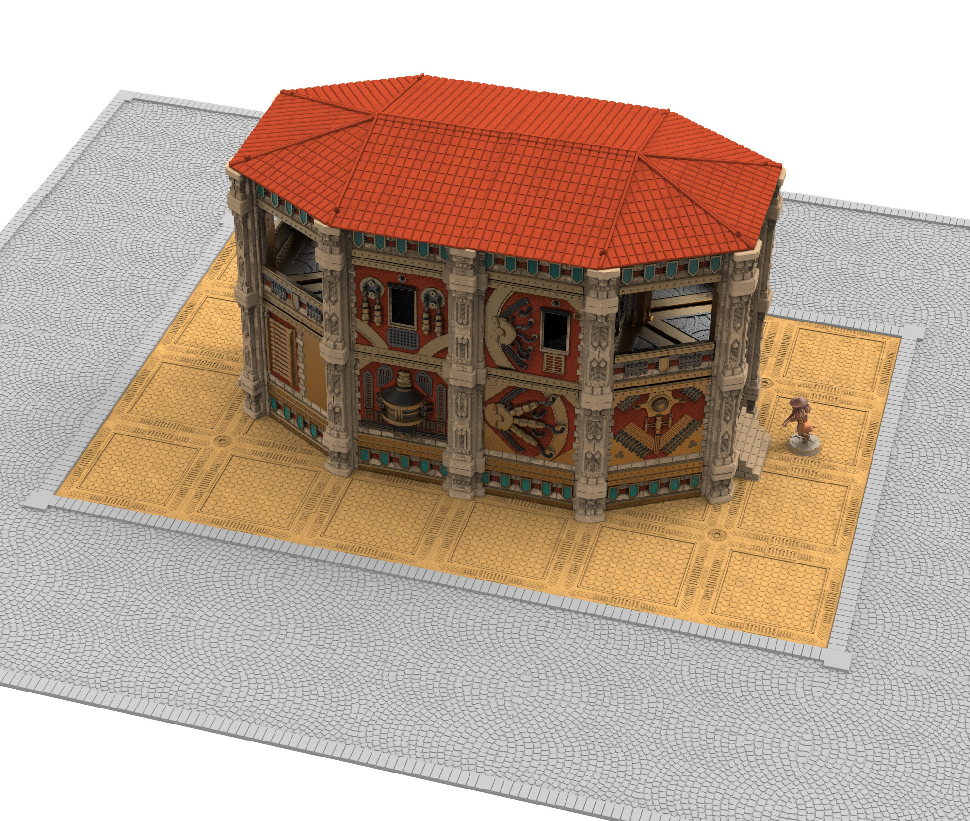 dfqs.jpg Download STL file Modular industrial buildings for wargaming steampunk grimdark terrain • 3D print template, Alario