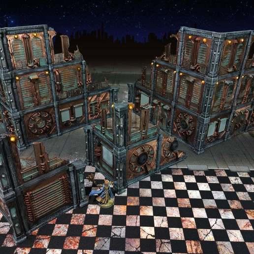 2x_LOSSBLOCK_2x_ruines_fig.jpg Download free STL file Damocles kickstarter modular industrial buildings sample • 3D print design, Alario