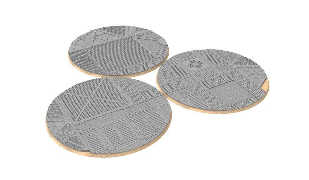 untitled.329.jpg Download free STL file Sci-fi industrial bases all sizes all shapes • 3D printing template, Alario