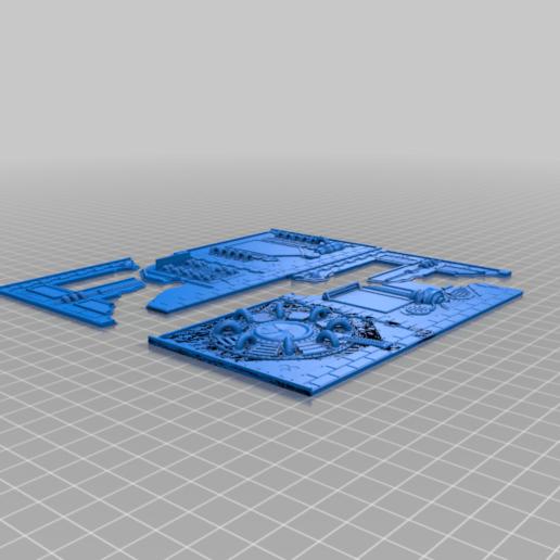 faces.png Download free STL file Damocles kickstarter modular industrial buildings sample • 3D print design, Alario
