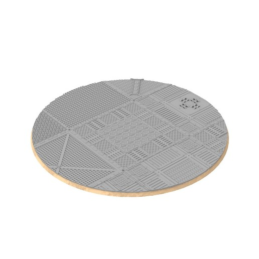 untitled.330.jpg Download STL file x1000 Round, oval, square, rectangular, hexagonal, industrial textured bases • 3D print design, Alario