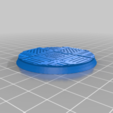 Round_50mm_base_INDR_01.png Download free STL file Sci-fi industrial bases all sizes all shapes • 3D printing template, Alario