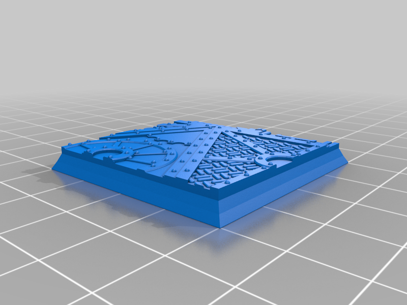 Square_40mm_base_INDR_01.png Download free STL file Sci-fi industrial bases all sizes all shapes • 3D printing template, Alario