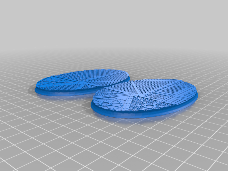 Oval_105x70mm_base_INDR_01.png Download free STL file Sci-fi industrial bases all sizes all shapes • 3D printing template, Alario
