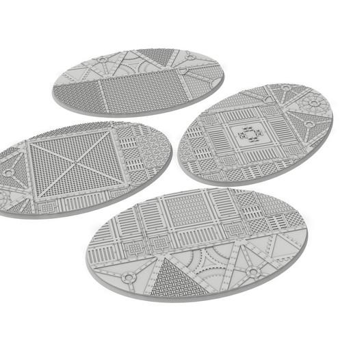 150x95.jpg Download STL file x1000 Round, oval, square, rectangular, hexagonal, industrial textured bases • 3D print design, Alario