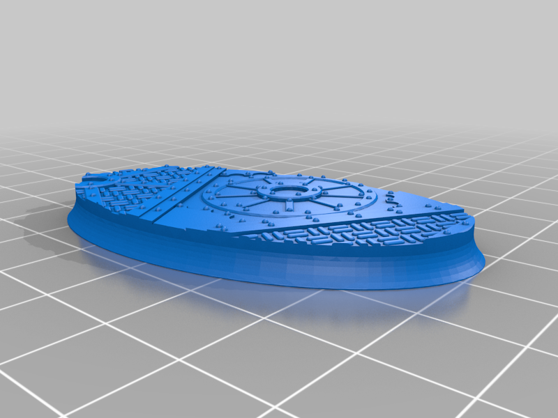 Oval_60x35mm_base_INDR_01.png Download free STL file Sci-fi industrial bases all sizes all shapes • 3D printing template, Alario
