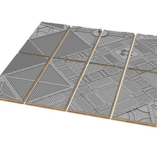 untitled.348.jpg Download free STL file Sci-fi industrial bases all sizes all shapes • 3D printing template, Alario
