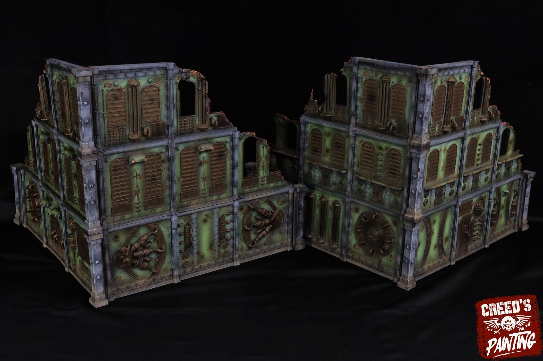 90221506_1108946656112276_8755375091564412928_o.jpg Download STL file Modular industrial buildings for wargaming steampunk grimdark terrain • 3D print template, Alario