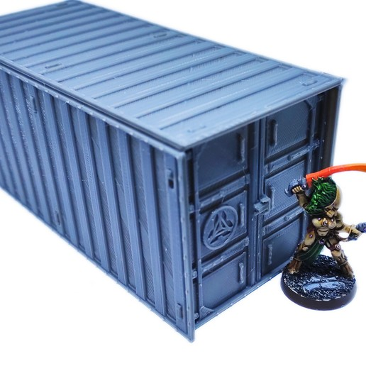 IMG_20200918_073348.jpg Download free STL file Containers for wargame terrain 6.25x6.25x15cm • Template to 3D print, Alario