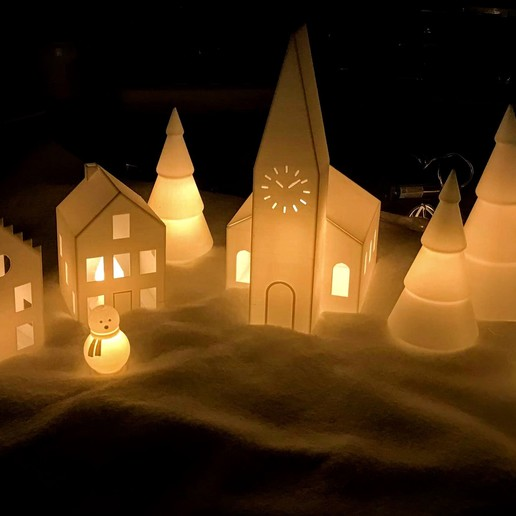 Download free STL file Christmas Village II • 3D print model, Frederic-G