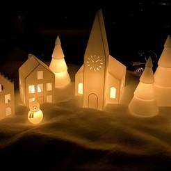 Télécharger fichier STL gratuit Village de Noël II • Design imprimable en 3D, Frederic-G