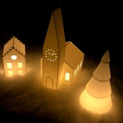 Download free STL file Christmas Village • 3D printing model, Frederic-G