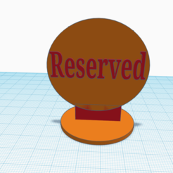 Download STL file Table skilt Reserverd, sveinungp90