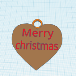 Download 3D printer templates christmas tree decoration Merry Christmas heart, sveinungp90