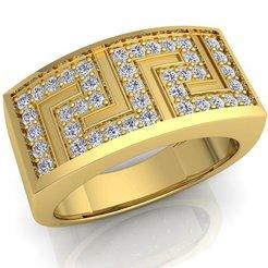 Download 3D printer templates Woman Diamond Ring 3d Model Print , grivajewel