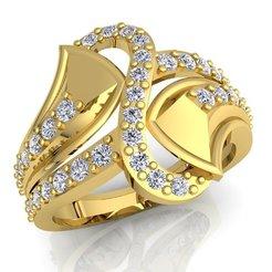 1 (538)_LUXURY_A_White Reflective_1_Yellow Gold_5_Diamond.jpg Descargar archivo STL Anillo de la mujer del diamante de la impresión del modelo 3d • Objeto para imprimir en 3D, grivajewel