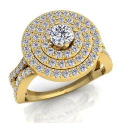 1 (529)_LUXURY_A_White Reflective_1_Yellow Gold_5_Diamond.jpg Télécharger fichier STL Bague Femme Diamant Bague Modèle 3d Imprimé • Objet pour imprimante 3D, grivajewel