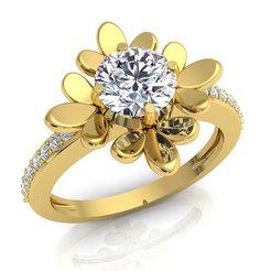 1 (498)_LUXURY_A_White Reflective_1_Yellow Gold_5_Diamond.jpg Descargar archivo STL Anillo de la mujer del diamante de la impresión del modelo 3d • Objeto para imprimir en 3D, grivajewel