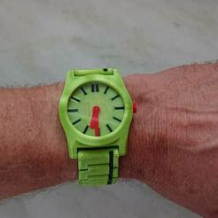DSC_3010 (Groß).jpg Download free SCAD file 3D printed Watch by printschnitzel.at • 3D printable model, Printschnitzel