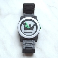 Download free 3D printer designs 3D printed Watch by printschnitzel.at, 3DWatsch