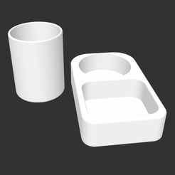 Capture d'écran 2019-11-24 à 13.20.46.png Descargar archivo STL soporte de cerámica para esponja y porta-agua • Plan para imprimir en 3D, joristrial