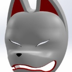 Masque kitsune 14b.JPG Télécharger fichier STL Masque Kitsune pour kumihimo • Plan pour impression 3D, folken02