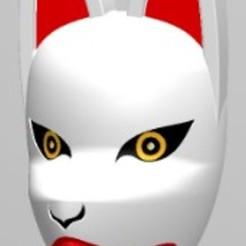 Masque kitsune kumihimo.JPG Télécharger fichier STL Masque Kitsune pour kumihimo • Plan pour impression 3D, folken02