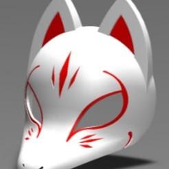 Masque kitsune 7.JPG Télécharger fichier STL Masque Kitsune • Objet à imprimer en 3D, folken02