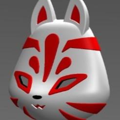 Masque kitsune 3.JPG Télécharger fichier STL Masque Kitsune • Objet à imprimer en 3D, folken02