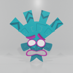 Front.png Download STL file Lani loli Crash bandicoot 4 • Model to 3D print, goojpaar