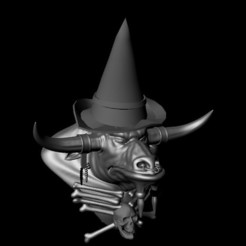 Download free 3D printer files Buffalo witch, Pushan