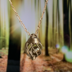 Pendentif.png Download STL file Jewel: Pendant cage / caged pendant • 3D printable design, alexsvcl