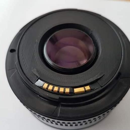 FB_IMG_1602882681250.jpg Download STL file  lens part Canon EF 50 1.8 • 3D printer template, aleksname2013