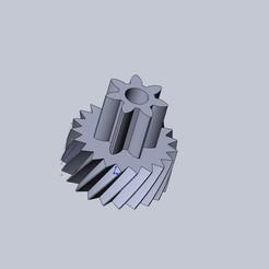 Shreder Gotova ver2.JPG Download STL file  Shredder gear (7 and 21 teeth) • Model to 3D print, aleksname2013