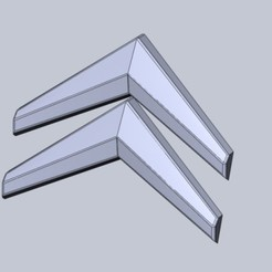 CI3 ver2.JPG Download STL file CITROEN C3 BACK LOGO • Model to 3D print, aleksname2013