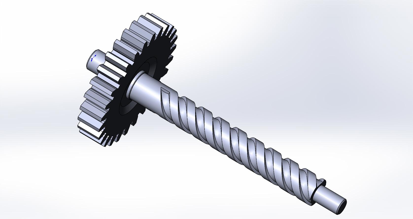BAGASHNIK.JPG Download STL file Gear with auger • 3D printable model, aleksname2013