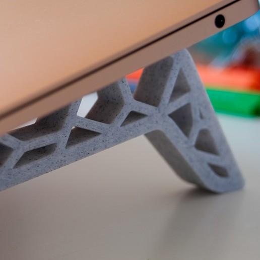 Télécharger fichier STL gratuit Support pour ordinateur portable de Voronoi • Objet imprimable en 3D, addiscamillo