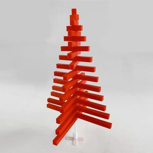 XmasTree_3.jpg Télécharger fichier STL gratuit Peeno - L'arbre de Noël minimal • Plan imprimable en 3D, addiscamillo