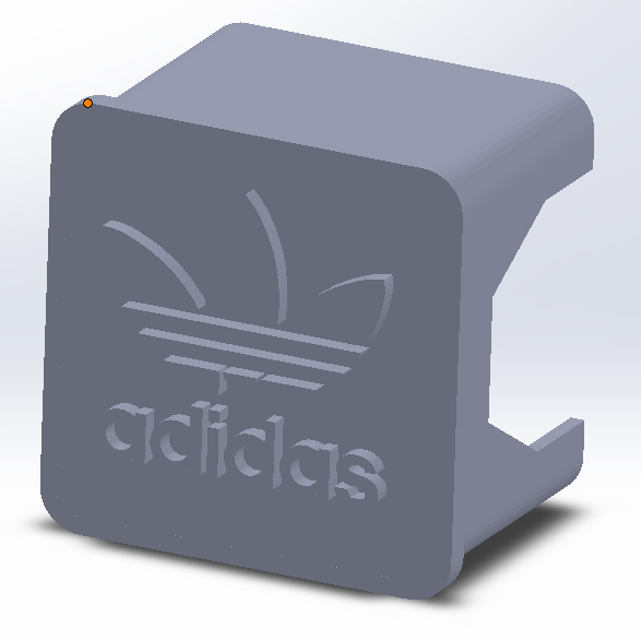 Capture 2.PNG Download free STL file Ender 3 QR cover X-axis Adidas • 3D printable model, adriencorbel538