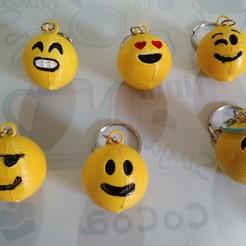 Emoticon1.jpg Download STL file Emoticon key rings • 3D print template, punena-jujuy