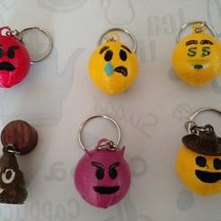 Emoticon3.jpg Download STL file Emoticon key rings • 3D print template, punena-jujuy