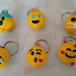 Emoticon2.jpg Download STL file Emoticon key rings • 3D print template, punena-jujuy