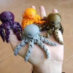 IMG_20190316_111642.jpg Download free STL file Cute Mini Octopus • 3D printer template, mcgybeer