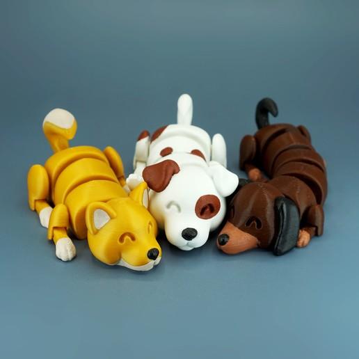 DSC01657 copia.jpg Download STL file Lazy Dogs • 3D print design, mcgybeer